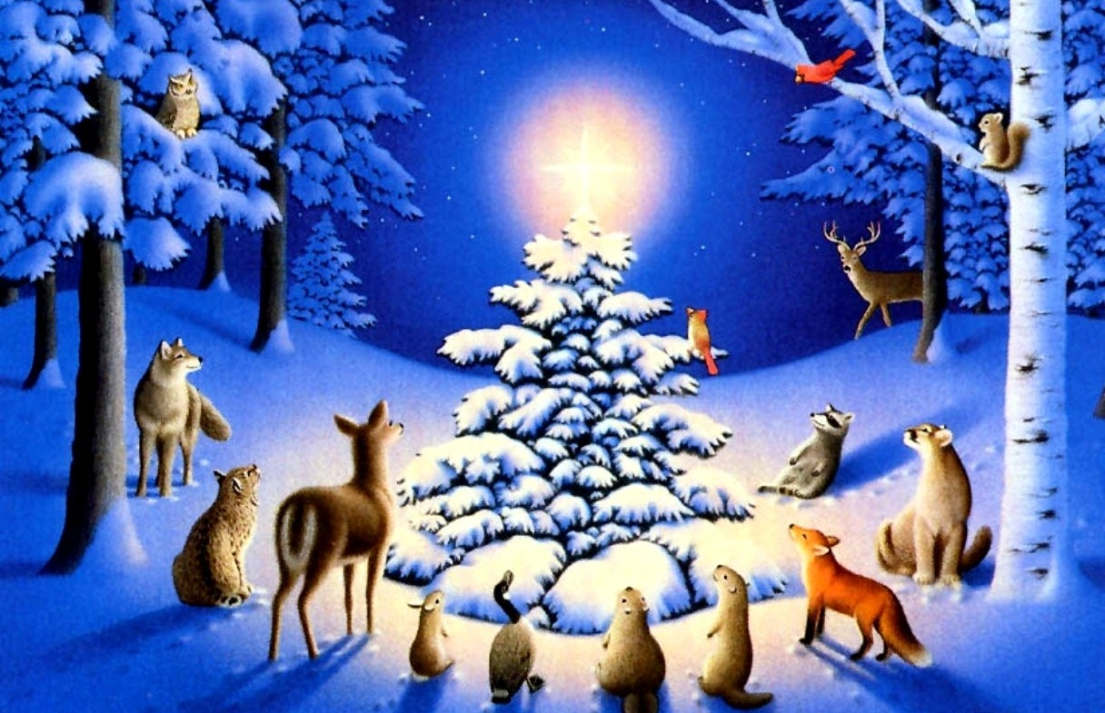 FOREST CHRISTMAS, ANIMALS