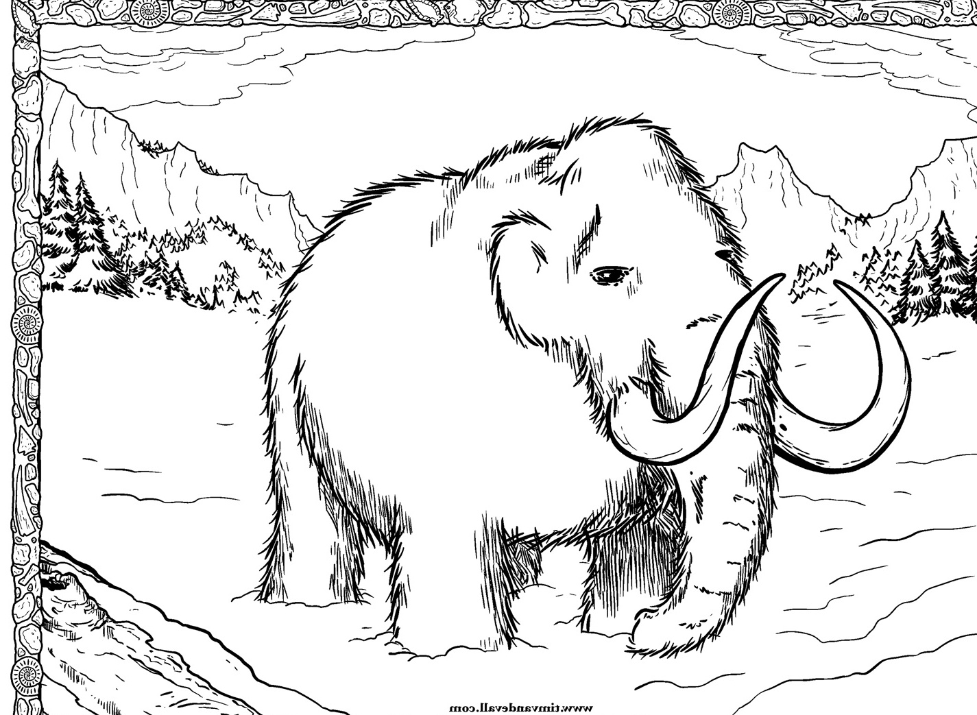 Wooly mammoth coloring page drawing sketch coloring page for Wooly mammoth coloring page