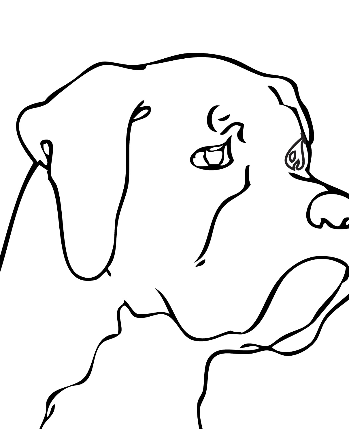 Boxer Dog Coloring Pages with 1275×1650 pixel