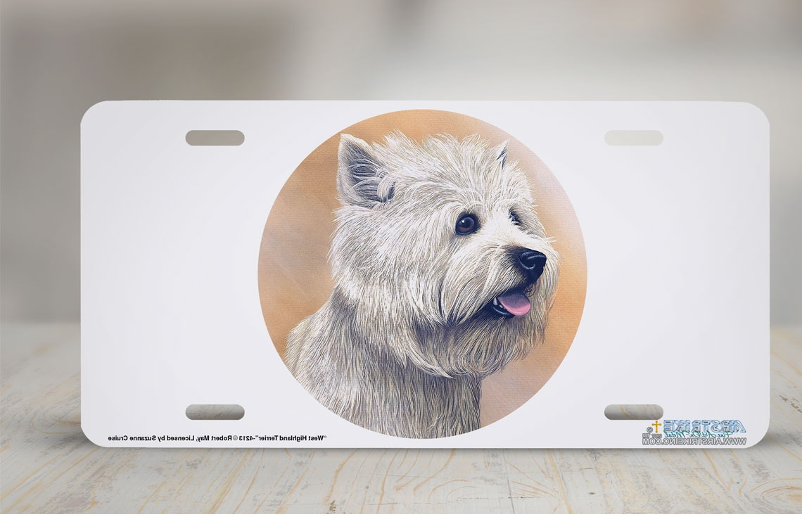 "4213-""West Highland Terrier"" Dog License Plate"