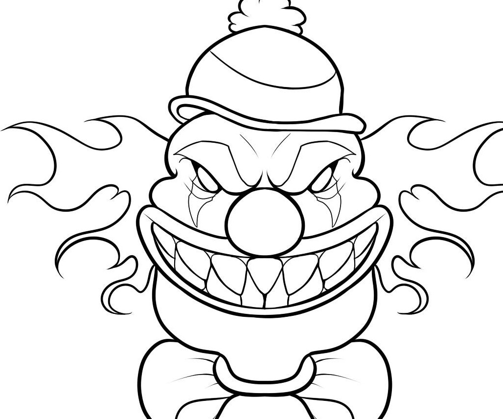 holiday coloring pages scary coloring pages scary clown face coloring pages coloring pages on coloring