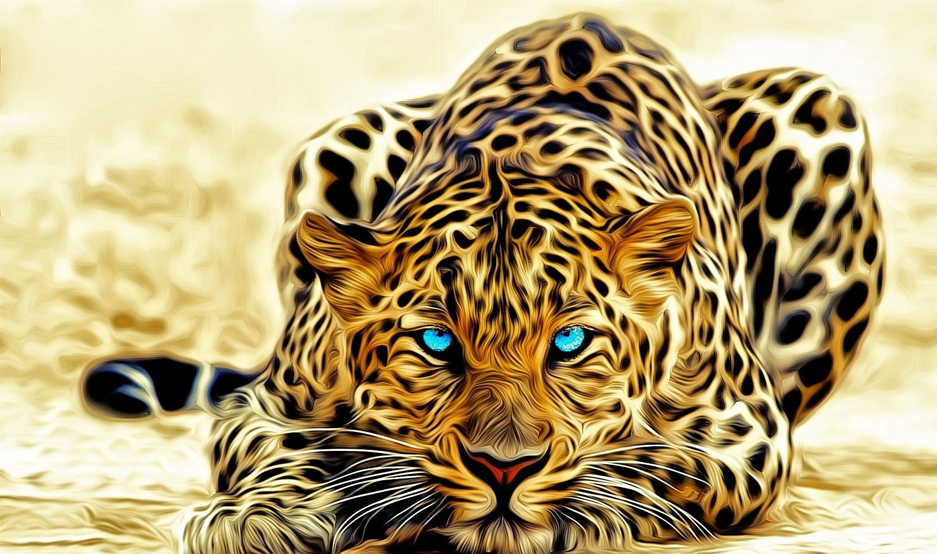 Leopard Cat Art | 1920 x 1200 | Download | Close