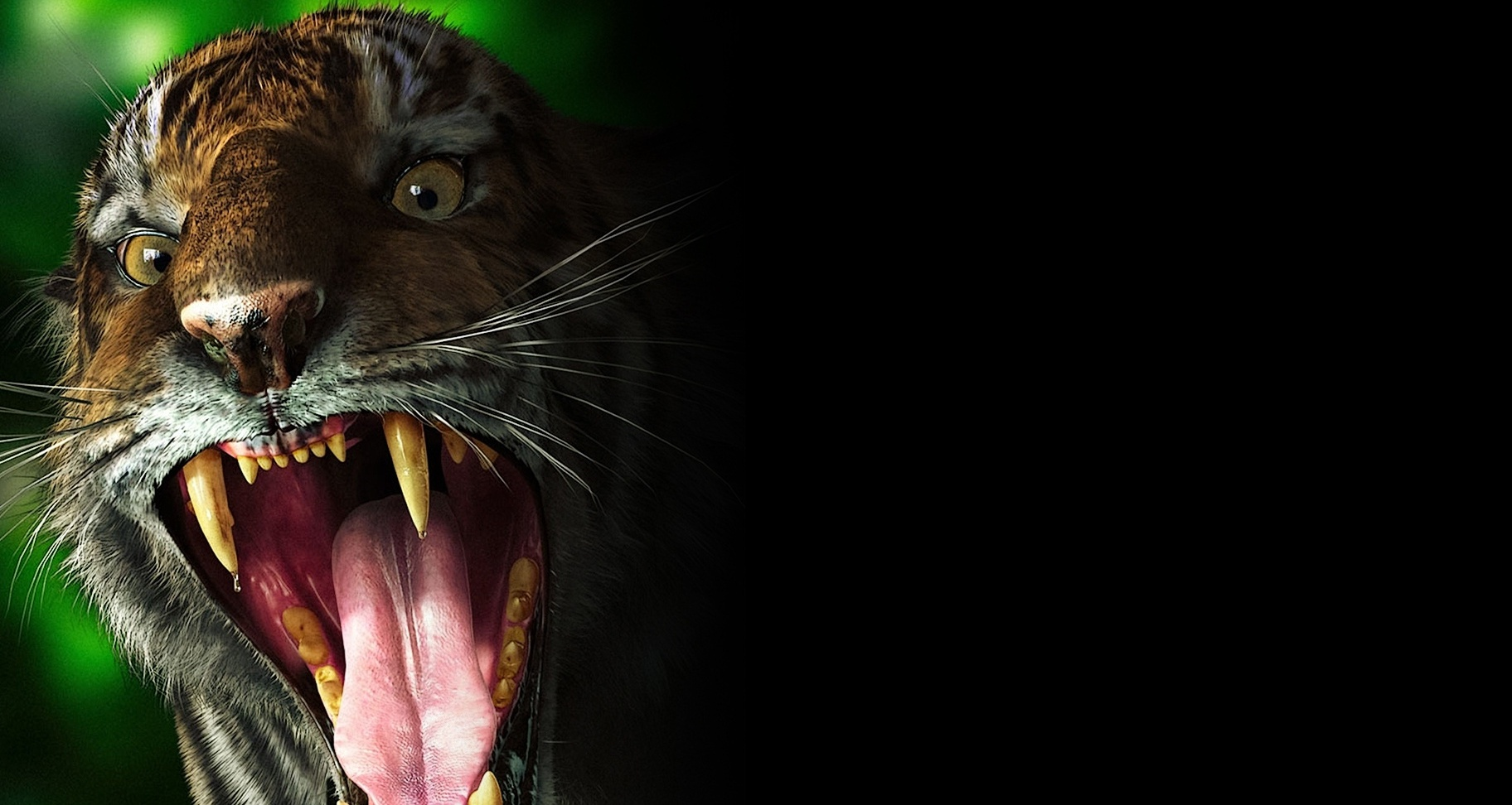 Download Wallpaper 1920x1080 Tiger, Teeth, Scary, Evil Full HD 1080p ...