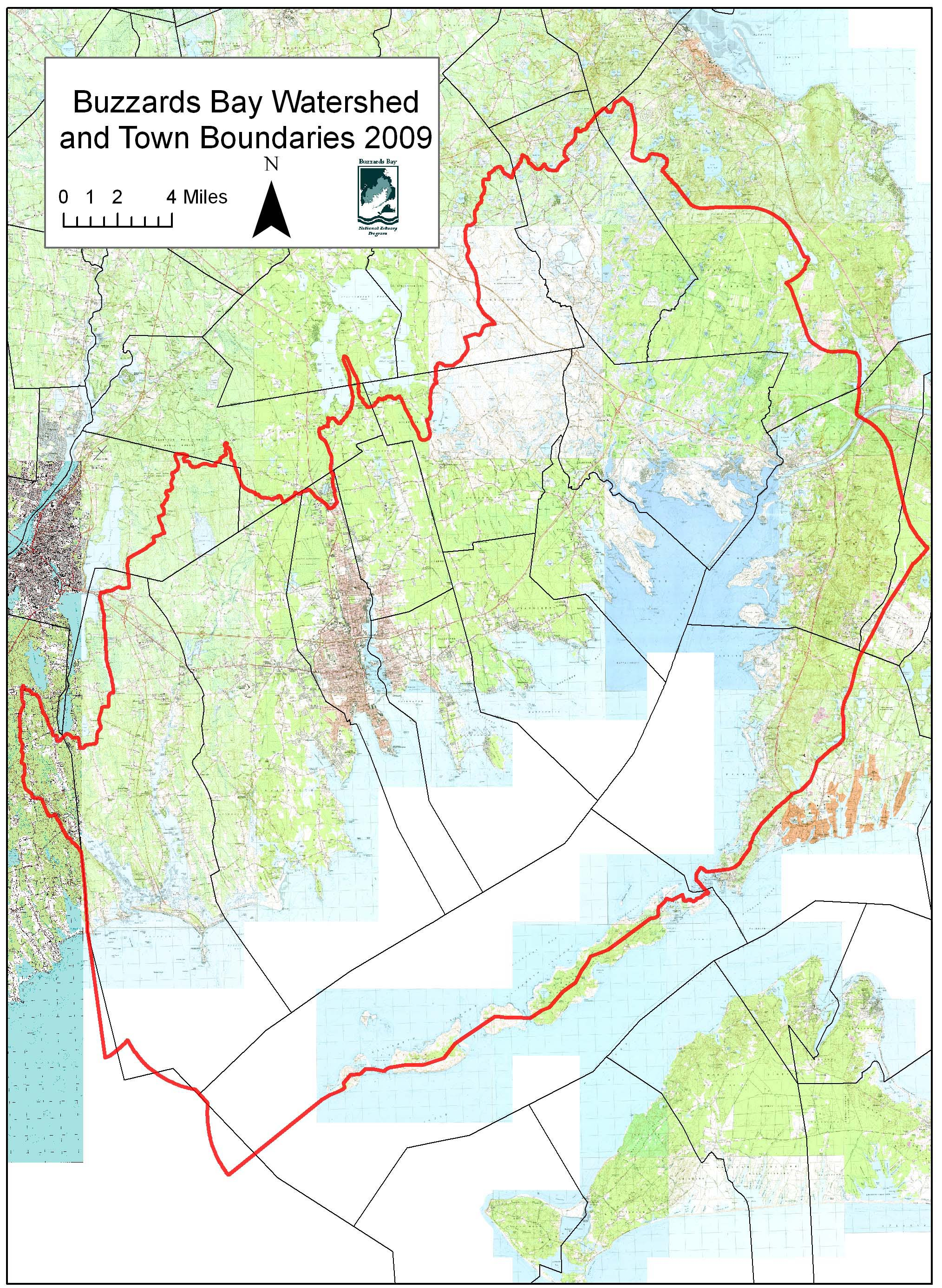 Selected Buzzards Bay Massachusetts Drainage Basin Maps