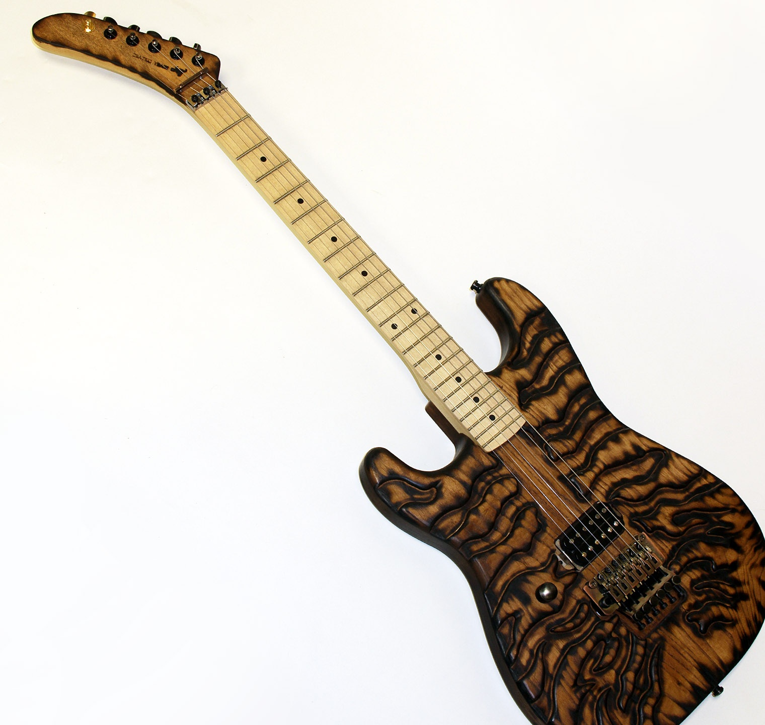 Mr Scary Guitars Burnt Tiger Hand Made by George Lynch New Auth Dealer ...